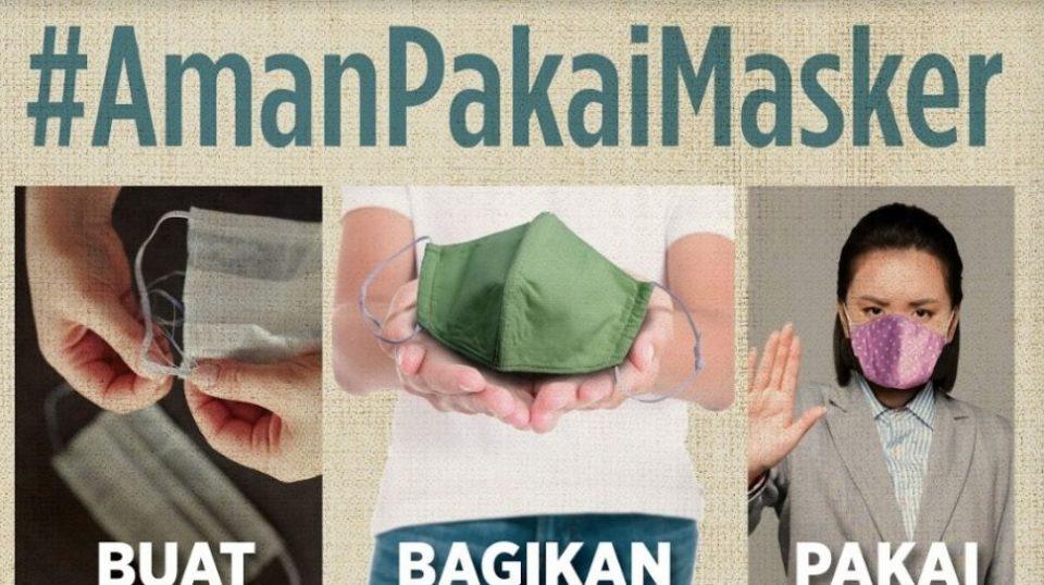 Menggunakan Masker Kain, Menurut Penelitian Jepang lebih Aman